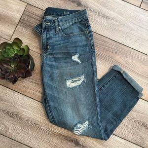 a.n.a Distressed Boyfriend Jeans